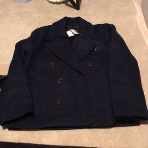 J crew new with tags navy pea coat size 2 Look
